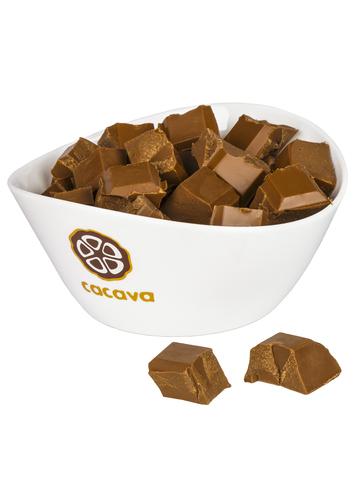 Белый шоколад, карамельный, внешний вид