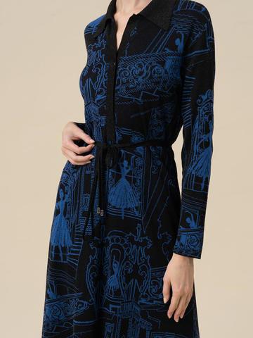 Женское платье А-силуэта черного цвета из вискозы - фото 3