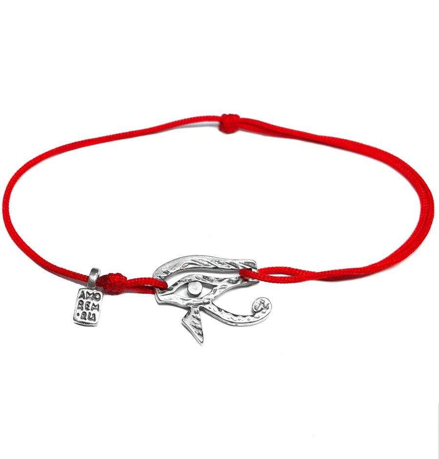 Eye of Horus Bracelet, sterling silver