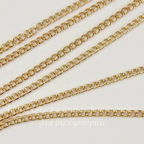 Цепь (цвет - золото) 4х2,5 мм, примерно 2 м