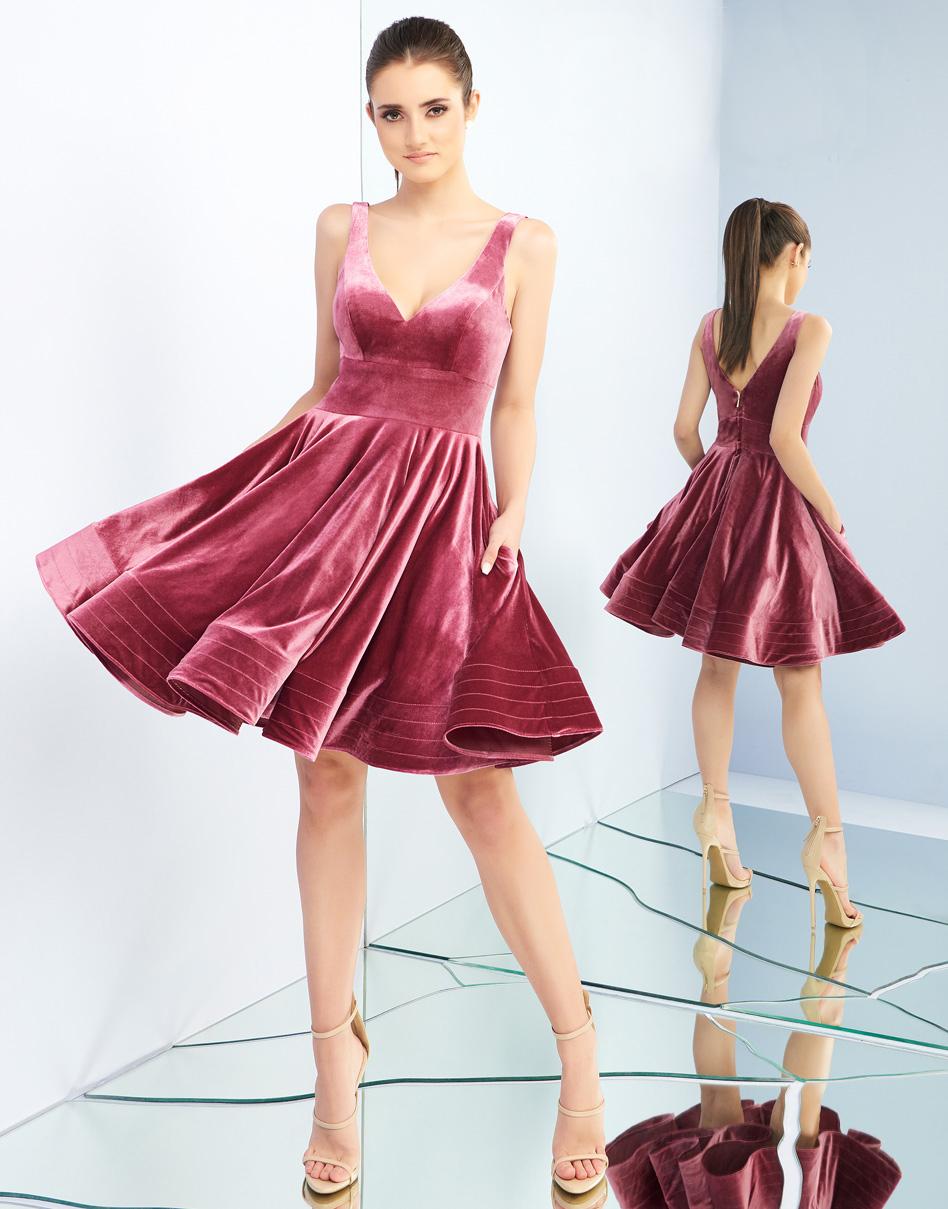 Платье в цвете Deep Rose Mac Duggal 48428