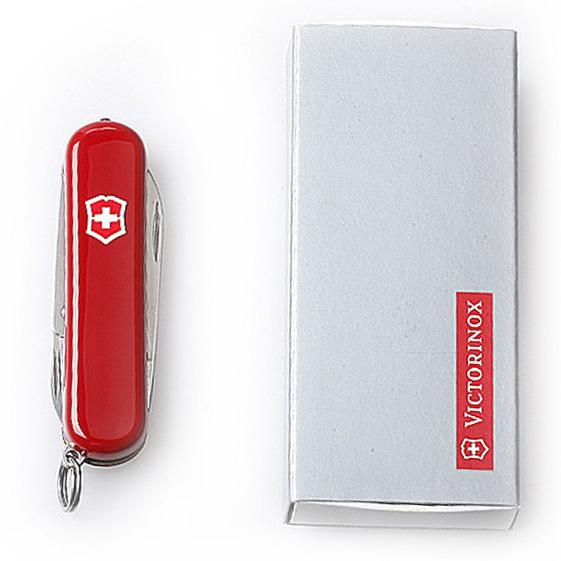 Нож-брелок Victorinox Classic SwissLite, 58 мм, 7 функ, красный  (0.6228)