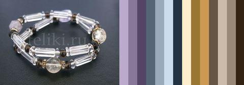 цветовая шпаргалка для подбора одеждыет из прозрачного кварца