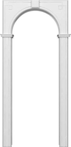Арка межкомнатная эмаль Владимирская фабрика дверей, Классика, цвет белая эмаль