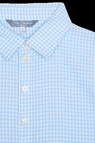 Рубашка в голубую клетку