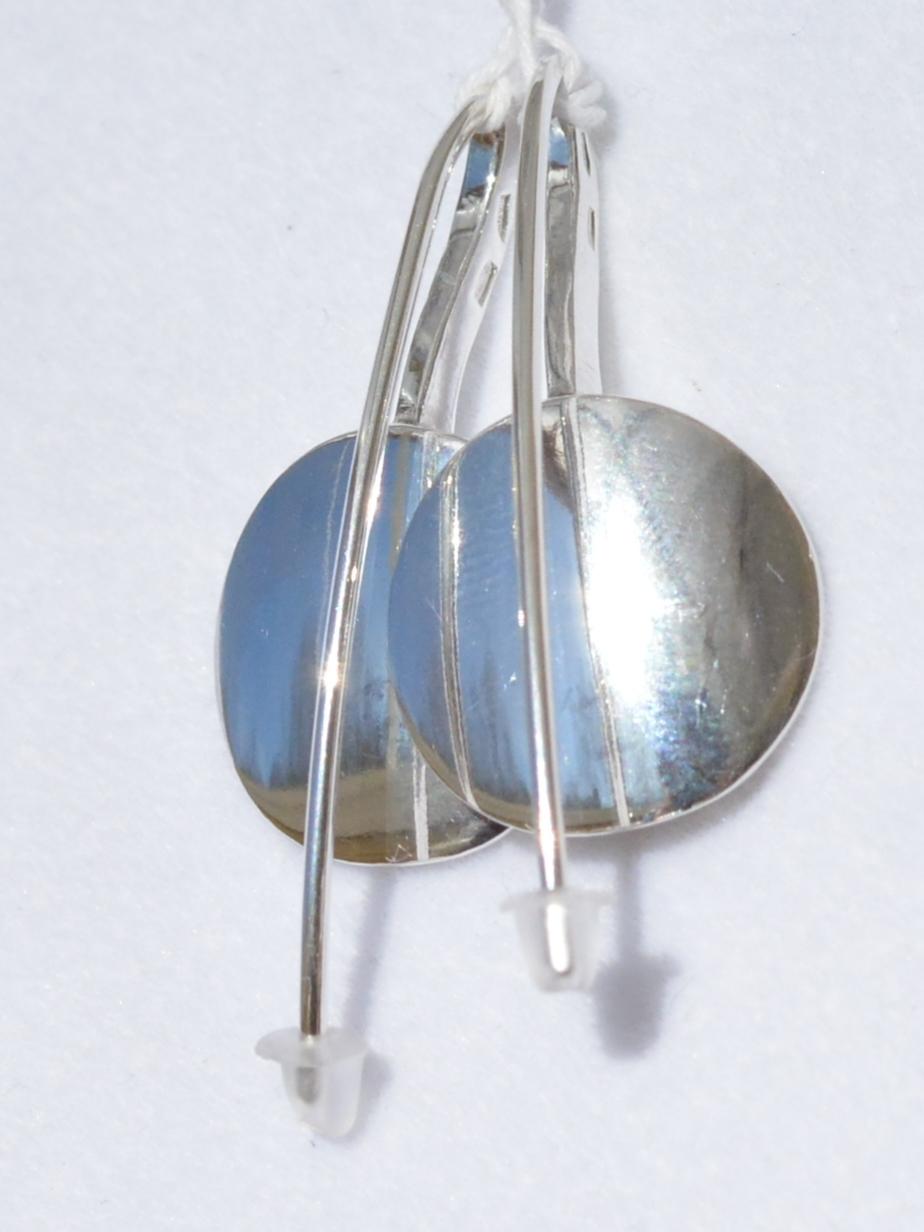 Кружок  (серьги из серебра)