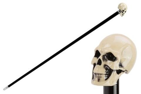 Трость мужская Pasotti Bone Skull Cane, Италия.