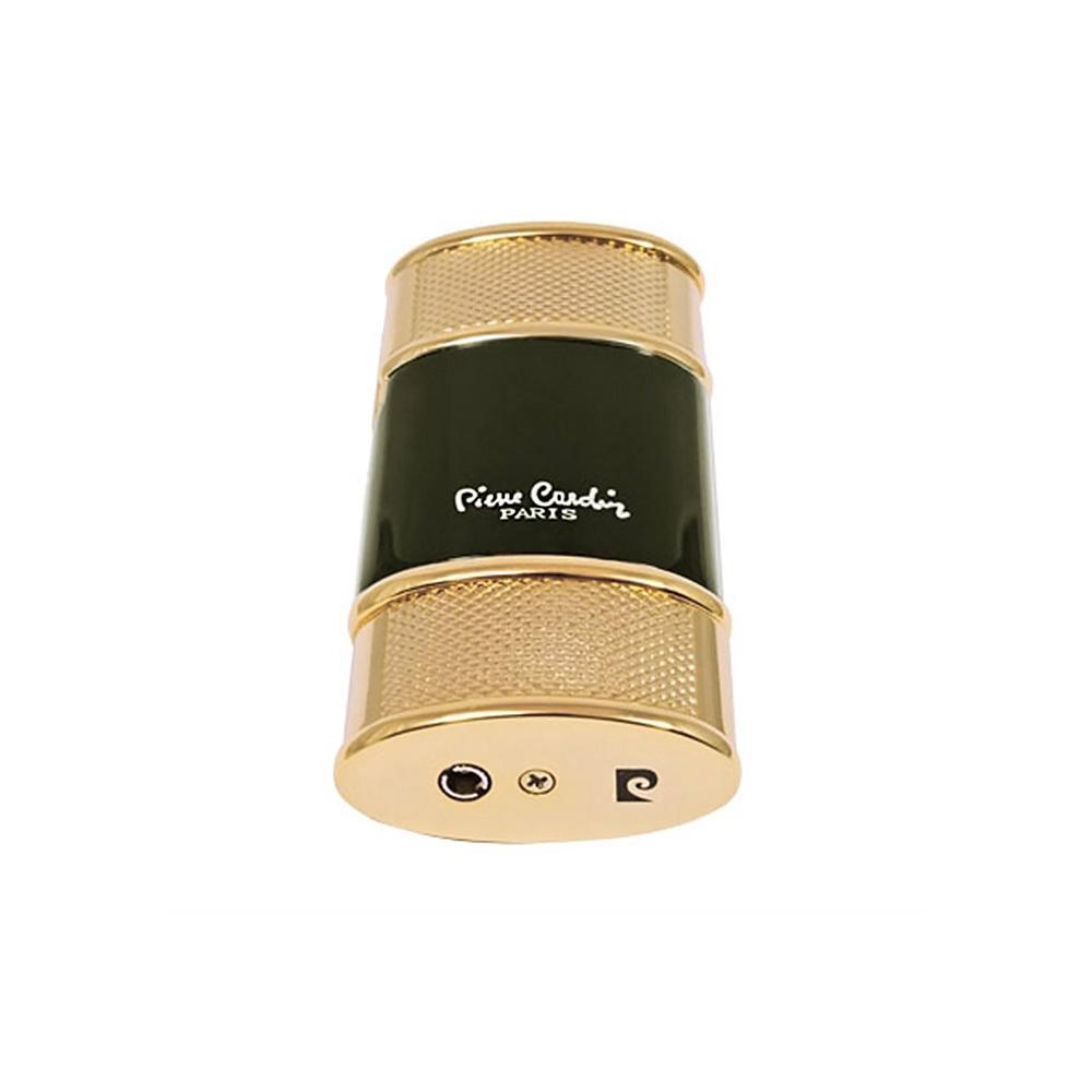 Зажигалка Pierre Cardin газовая турбо, цвет позолота/черный лак, 3,4х1,6х7см