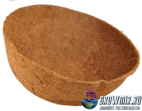 Кокосовое кашпо  Ø 25 см