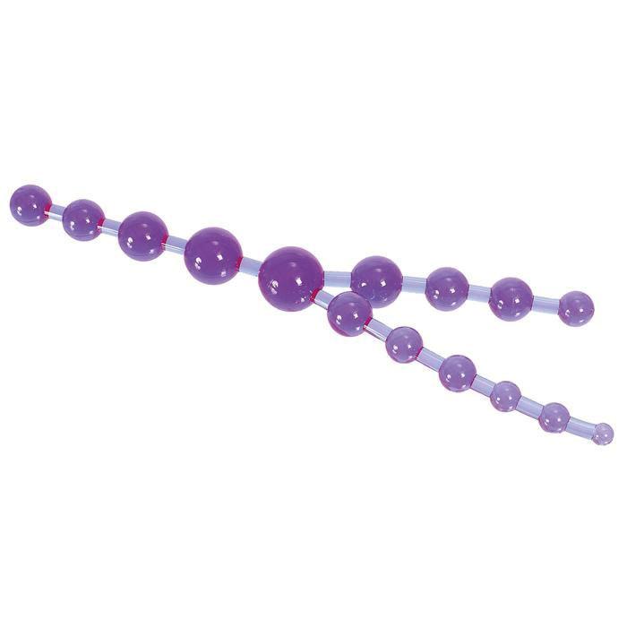 Анальные шарики, цепочки: Цепочка фиолетовых анальных шариков
