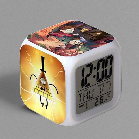 Часы-будильник с Биллом, Диппером и Мейбл