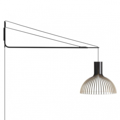 replica of Varsi 1000 wall lamp , black by Secto