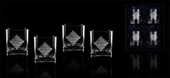 Подарочный набор из 4 стаканов для виски «Бриллиантовый 2»