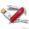Нож Victorinox@work c USB-16Гб 58мм 8 функций прозрач красный (4.6125.TG16B) usb флэшкарта baolifeng blf ms 004 16гб брелок мини