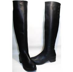 Кожаные сапоги женские Kluchini 3913 BLEF