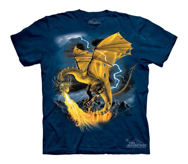 Футболка детская Mountain с изображением золотого дракона - Golden Dragon