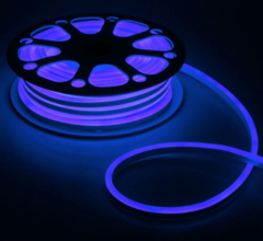 Гибкий неон 8х16 мм, светодиодный | Синий - 25м