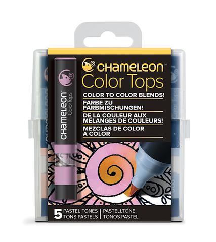 Набор цветовых блендеров Chameleon Color Tones Pastel Tones, пастельные тона 5 шт.
