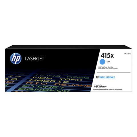 Kартридж голубой 415X для HP LaserJet M454, MFP M479 (6K)