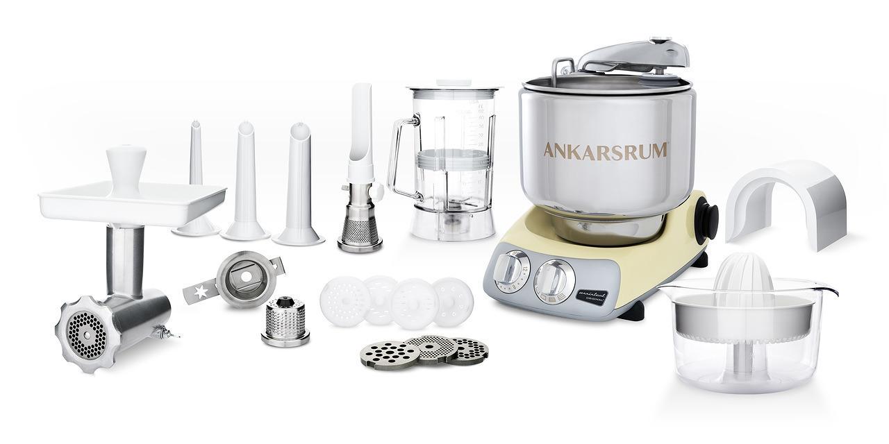 Тестомес комбайн Ankarsrum AKM6230C+ Assistent кремовый (расширенный)
