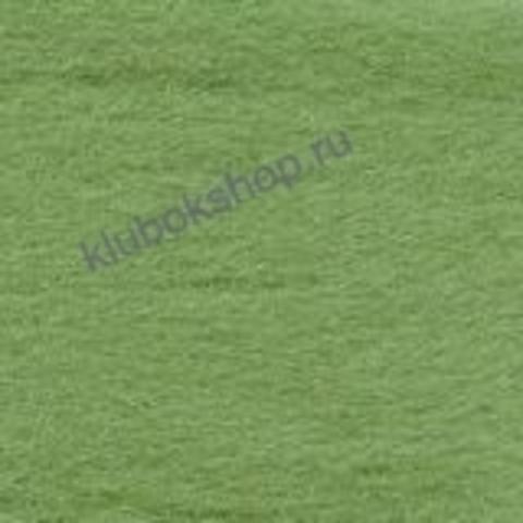 Шерсть для валяния Полутонкая (Троицкая) цвет 582 зеленое яблоко