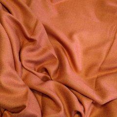 Кашемировый однотонный рыжий палантин (31) фото 2