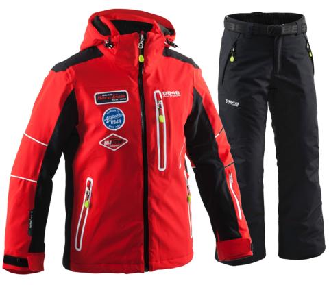 8848 ALTITUDE детский горнолыжный костюм красный