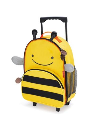 Детский чемодан на колесах с выдвижной ручкой Пчела
