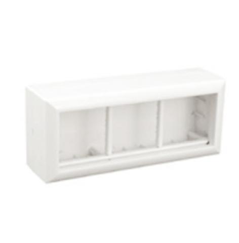 SM45/6 Коробка для открытой проводки на 3 поста 45х45 мм. Цвет Белый. Ecoplast (ЭКОПЛАСТ). 72946