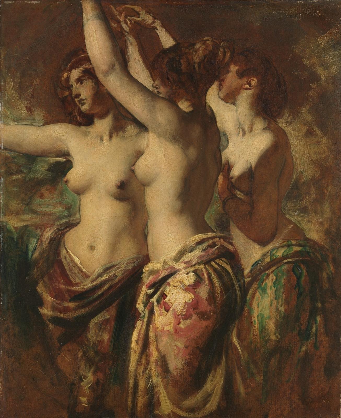 Уильям Этти. Три грации (The Three Graces). 57.2 x 47.6. Нью-Йорк, музей Метрополитен.