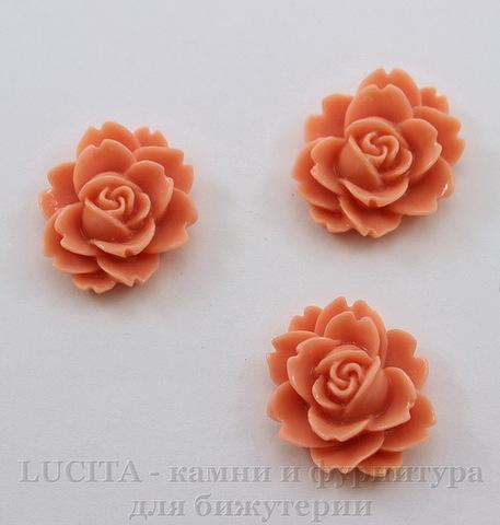 "Кабошон акриловый ""Чайная роза"", цвет - пепельно-розовый, 18х16 мм"