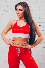 Женский топ Ryderwear BSX Sport Bra Red