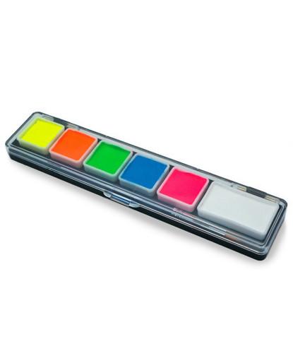 Набор PartyXplosion 6 неоновых цветов мини