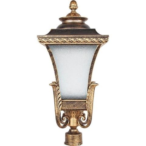 Светильник садово-парковый, 60W 230V E27 IP44 черное золото, PL4025 (Feron)