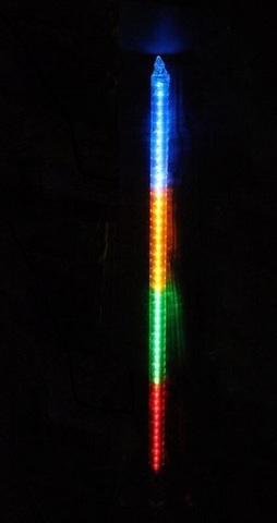 разноцветная LEd  сосулька 80 см