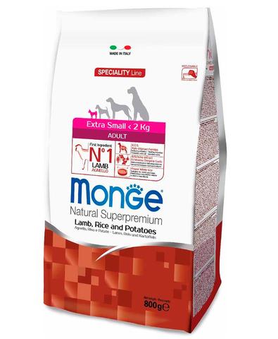 Monge Dog Speciality Extra Small корм для собак миниатюрных пород ягненок с рисом и картофелем 800г