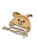 Шапка-зверюшка - Собака / бежевый. Одежда для кукол, пупсов и мягких игрушек.