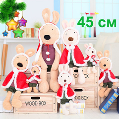 Rabbit Christmas red cloak plush toy - 45см