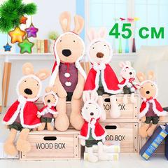 Rabbit Christmas red cloak plush toy - 45см