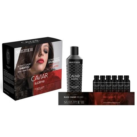 Набор Селектив CS шампунь для ослабл волос 250мл+сыворотка 6*100мл