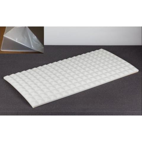 негорючая  акустическая панель  Пирамида ECHOTON FIREPROOF 100x50x3cm  из материала  BASOTECT белый с адгезивным слоем