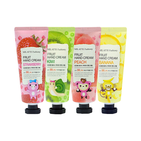MILATTE Hand Крем для рук клубника  MILATTE FASHIONY FRUIT HAND CREAM - STRAWBERRY