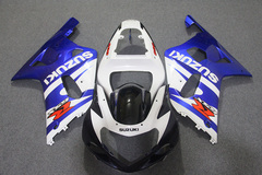 Комплект пластика для мотоцикла Suzuki GSX-R600/750 01-03 Сине-Белый COLOR+