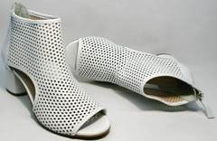 Удобные ботильоны ботинки летние Magnolya 3503 56-3 SummerWhite