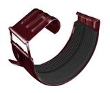 Соединитель желоба ф125 (RAL 3005-винно-красный)
