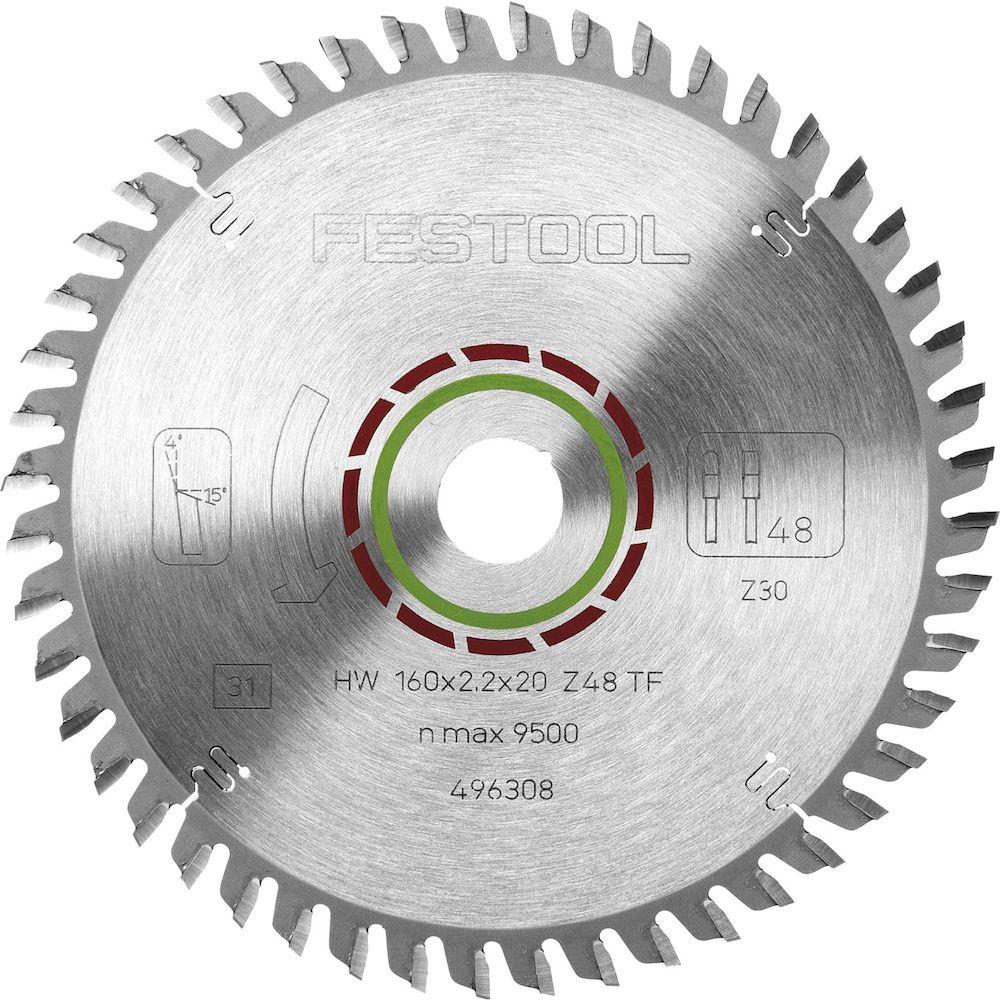 Пильный диск для ламината 160x2,2x20 TF48 Festool 496308