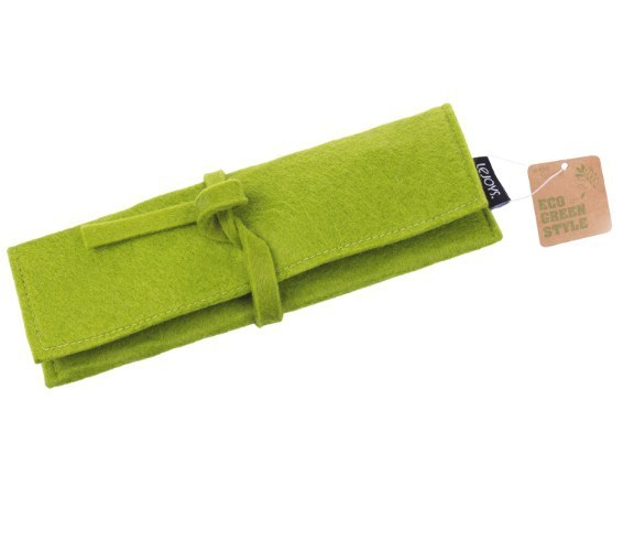 Пенал, Lejoys, Felt, на завязках, зеленый, 220*70 мм