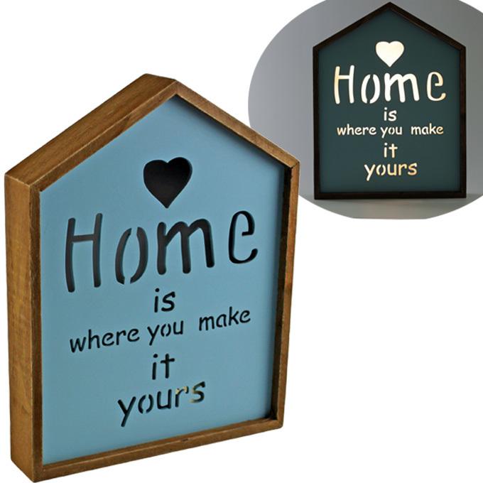 Панно «HOME» 21x4x27 см,  с подсветкой