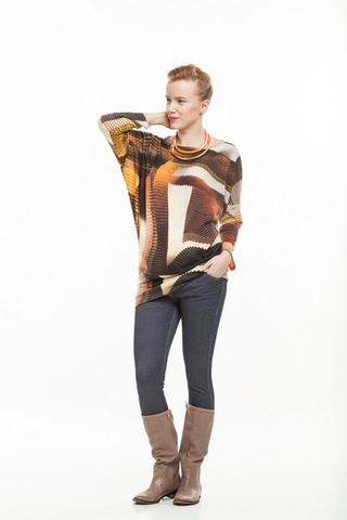 Туника для беременных 07232 коричневый