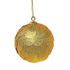 Шар новогодний декоративный Paper ball, золотой EnjoyMe